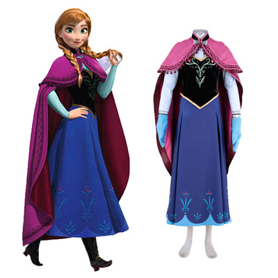 Frozen Anna 1ST Cosplay Costumes Deluxe Edition