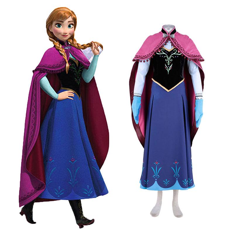 Frozen Anna 1 Cosplay костюми