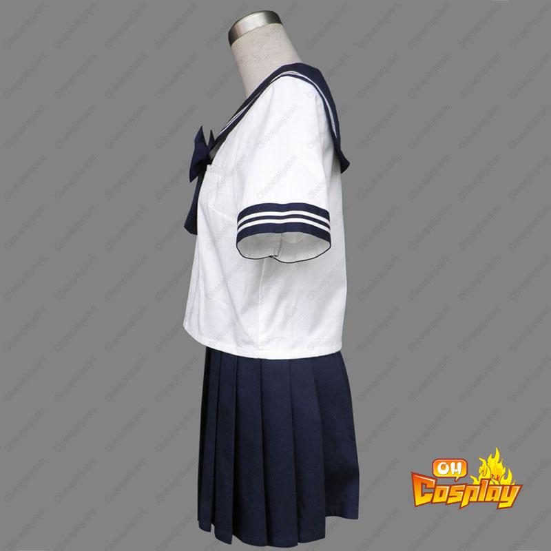Royal Blå Short Sleeves Sailor Uniform 8 Cosplay Kostym