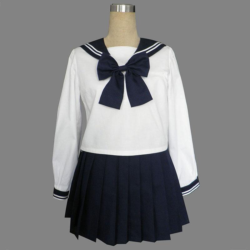 Long Sleeves Sailor Uniform 9 Cosplay Kostym
