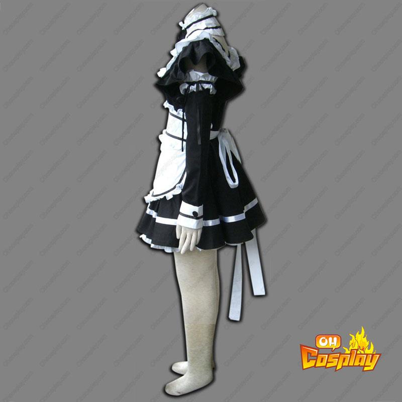 Svart Maid Uniform 1 Cosplay Kostym