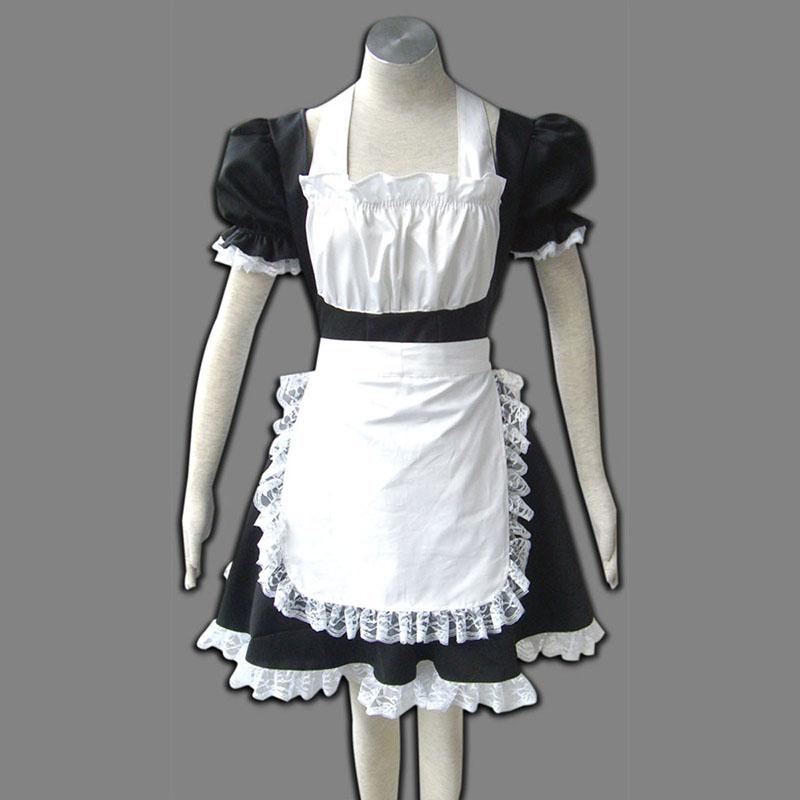 Maid Uniform 2 črna Winged Angle Cosplay Kostumi