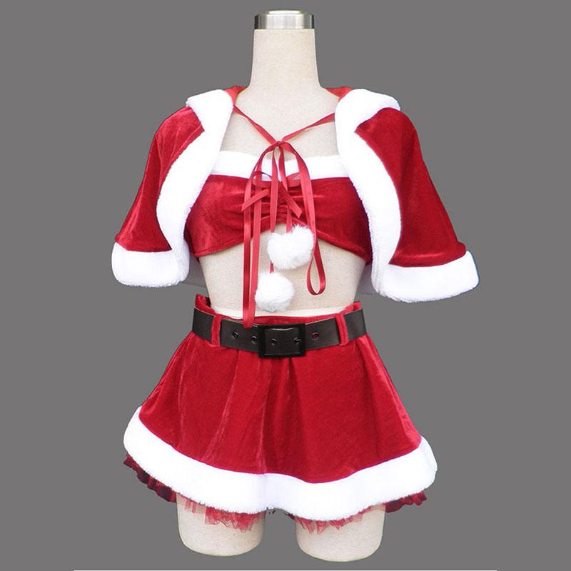 Vermelho Natal Senhora Vestidos 5 Traje Cosplay