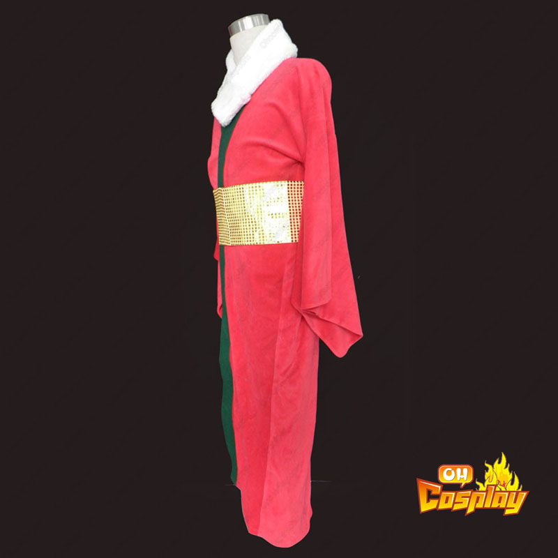 Vermelho Natal Kimono 1 Traje Cosplay