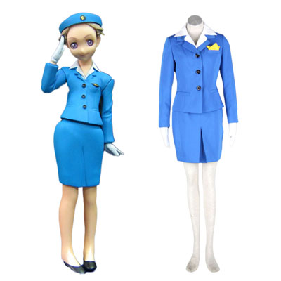 Aviation Uniformer Culture Stewardess 1 udklædning Fastelavn Kostumer