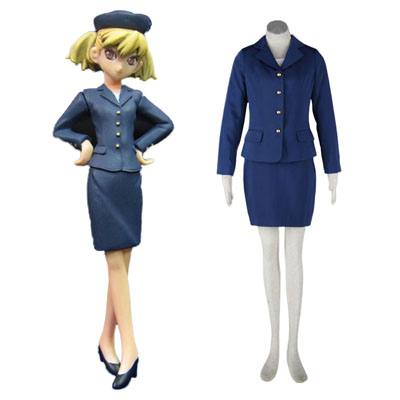Déguisement Costume Carnaval Cosplay Aviation Uniform Culture Stewardess 3