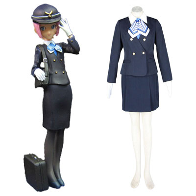 Déguisement Costume Carnaval Cosplay Aviation Uniform Culture Stewardess 7