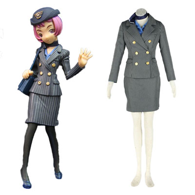 Déguisement Costume Carnaval Cosplay Aviation Uniform Culture Stewardess 8