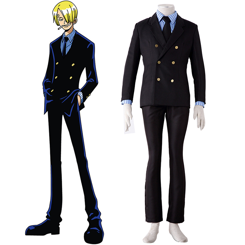 d guisement costume carnaval cosplay one piece sanji 1. Black Bedroom Furniture Sets. Home Design Ideas