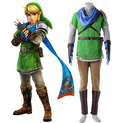 The Legend of Zelda Hyrule-Warriors Link 5 Cosplay Kostym