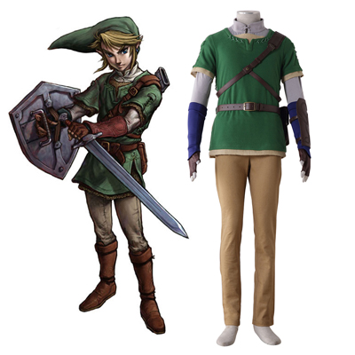 The Legend of Zelda Twilight Princess Link 4 Cosplay Kostumi