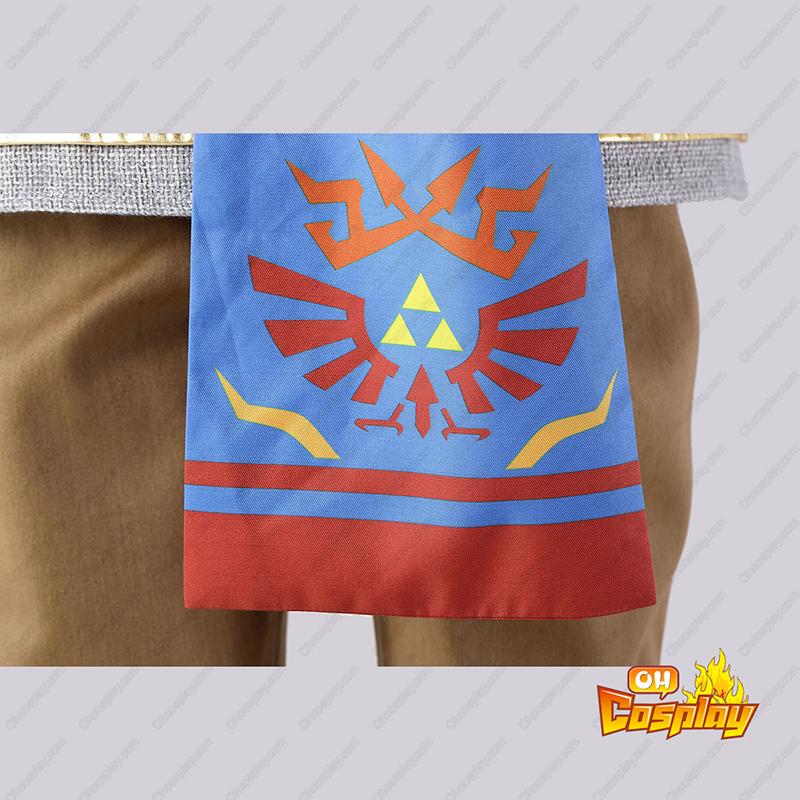 The Legend of Zelda Hyrule-Warriors Link 6 Vermelho Traje Cosplay