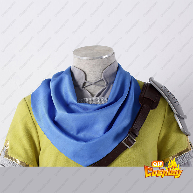 The Legend of Zelda Hyrule-Warriors Link 7 Amarelo Traje Cosplay