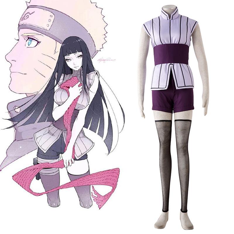 Naruto Hyūga Hinata 4 Cosplay Kostymer