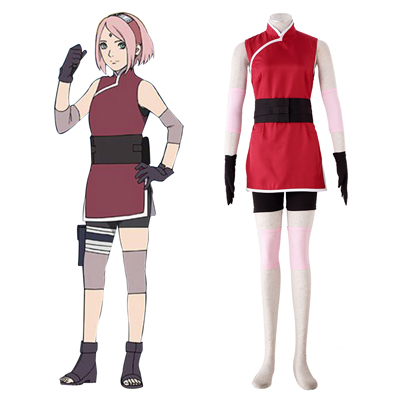 Costumi Carnevale Naruto Sakura Haruno 3 Cosplay