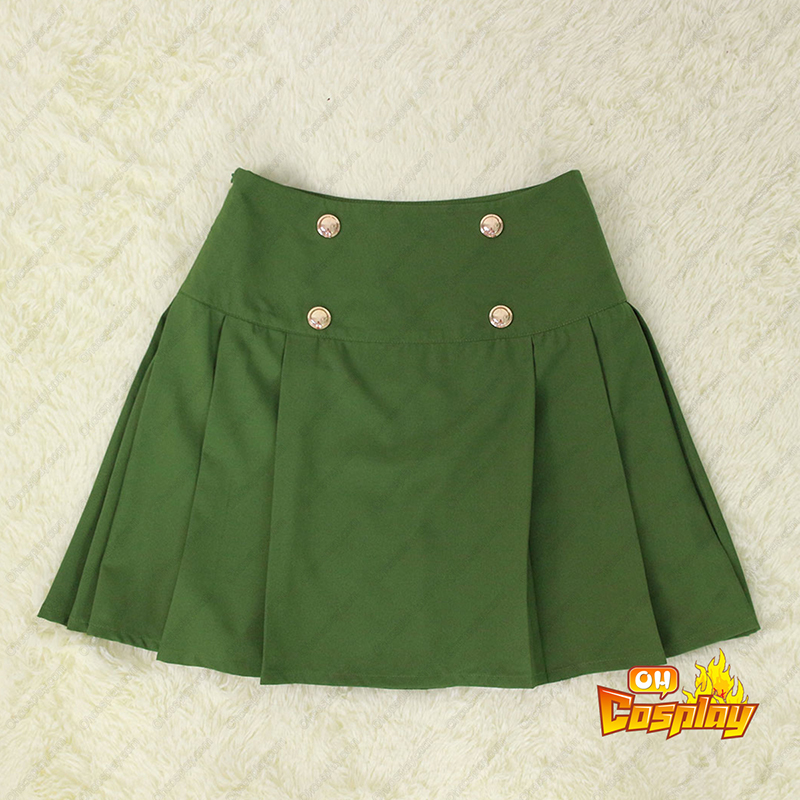School-Live! Ebisuzawa Kurumi 1 Green Sailor Traje Cosplay