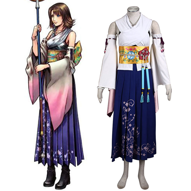 Final Fantasy X Yuna 1 Cosplay Kostymer