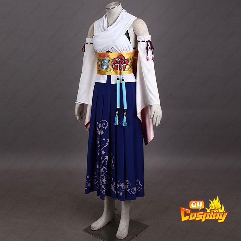 Final Fantasy X Yuna 1 Cosplay Kostymer