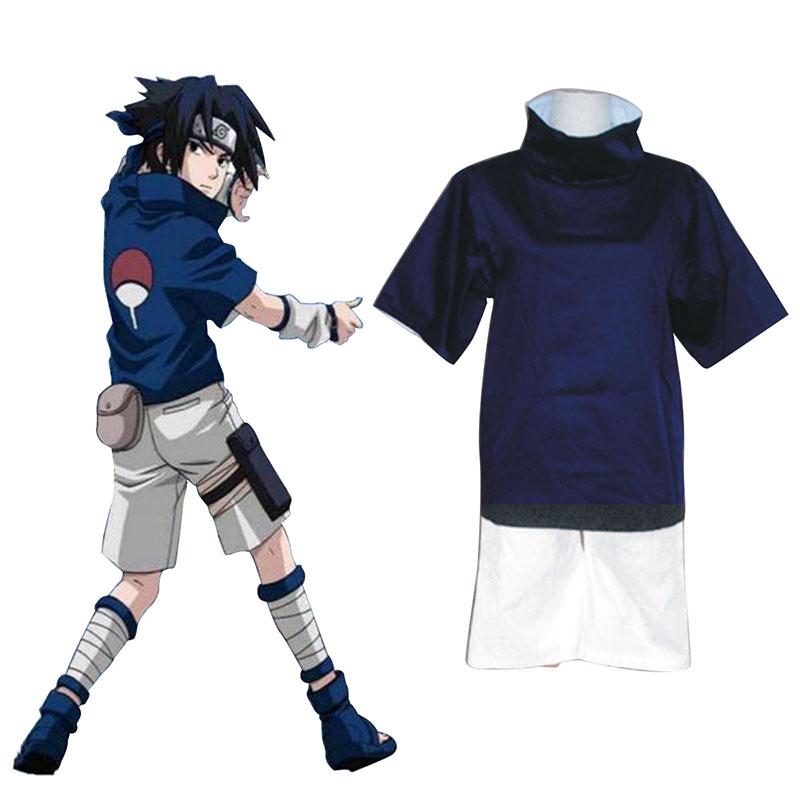 Naruto Uchiha Sasuke 1 Cosplay Kostym