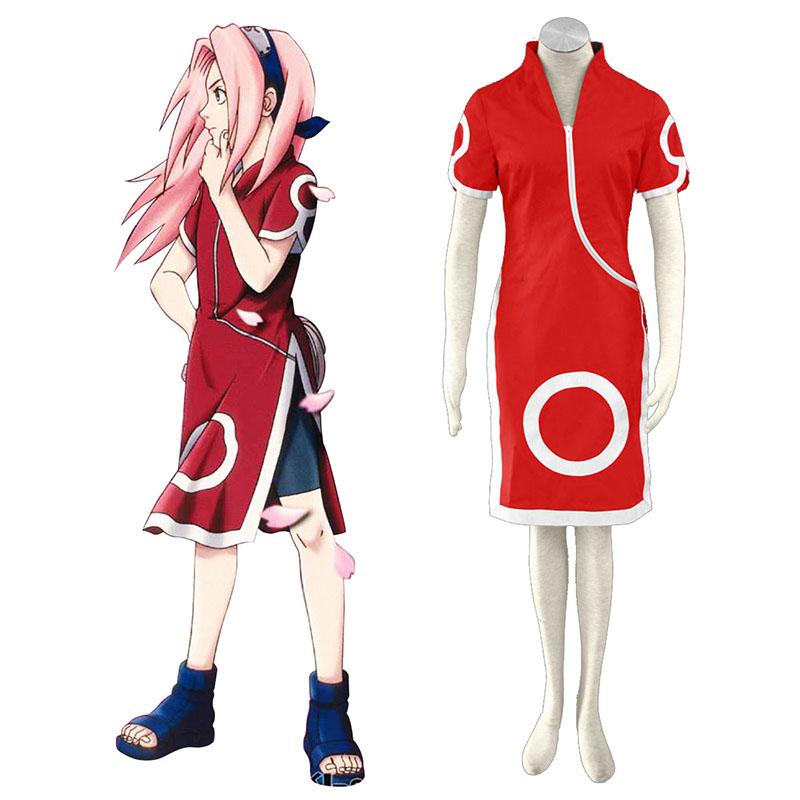 Naruto Haruno Sakura 1 Cosplay Kostymer