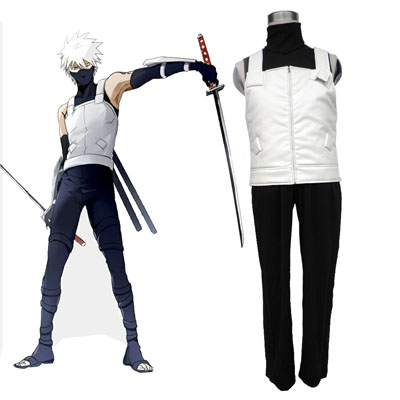 Naruto Hatake Kakashi 2ND Cosplay Costumes Deluxe Edition