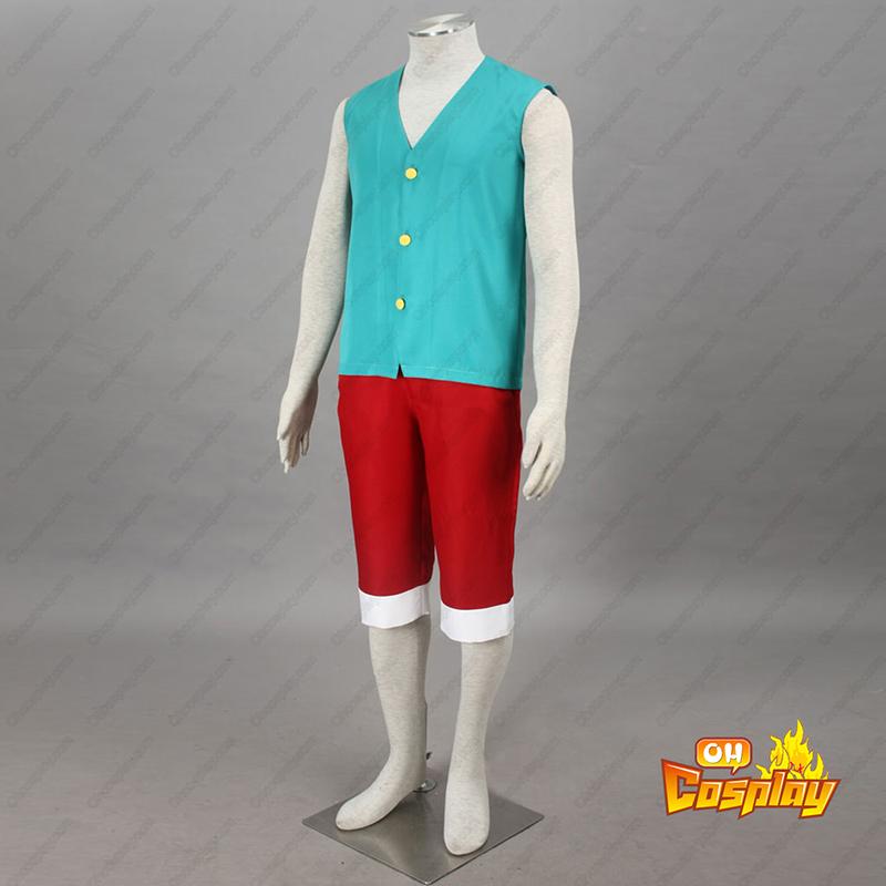 ワンピース Monkey D. Luffy 3 緑 コスプレ衣装