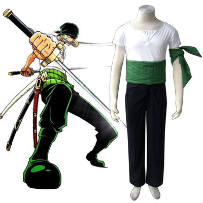 One Piece Roronoa Zoro 1ST Cosplay Costumes Deluxe Edition