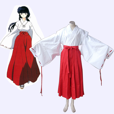 Inuyasha Kikyou Miko Cosplay Costumes Deluxe Edition