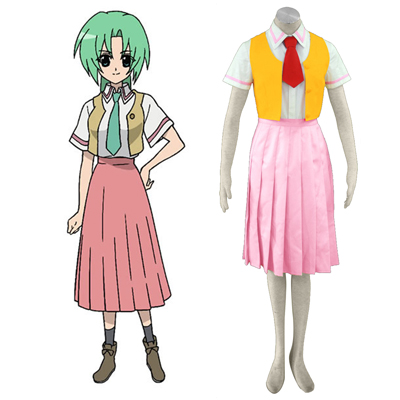 Higurashi When They Cry Sonozaki Mion 1ST Cosplay Costumes Deluxe Edition