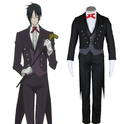 Black Butler Sebastian Michaelis 2ND Cosplay Costumes Deluxe Edition