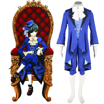 Black Butler Ciel Phantomhive 18TH Cosplay Costumes Deluxe Edition