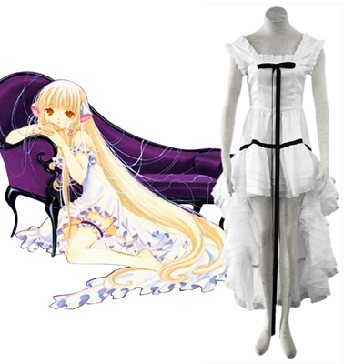 Chobits Eruda 2 Wit Cosplay Kostuums