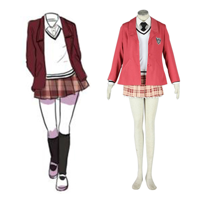 Axis Powers Hetalia Inverno Fêmea School Uniform 1 Traje Cosplay