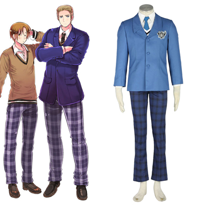 Axis Powers Hetalia Vinter Male School Uniform 1 Cosplay Kostym