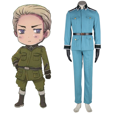 Axis Powers Hetalia Germany 1ST Military Uniform Cosplay Costumes