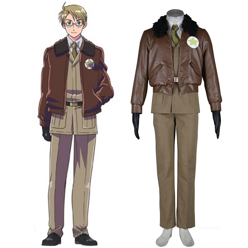 Axis Powers Hetalia APH America Alfred F Jones 1 Cosplay Kostymer