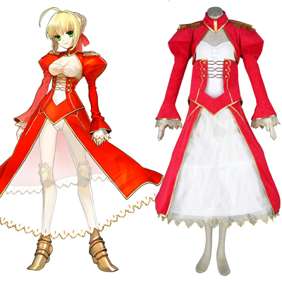 Déguisement Costume Carnaval Cosplay The Holy Grail War Saber 2 Rouge