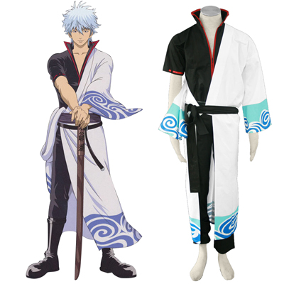 Gin Tama Sakata Gintoki 1 Black Belt Cosplay Costumes UK