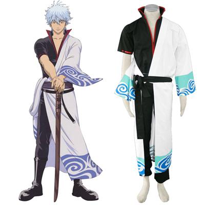 Gin Tama Sakata Gintoki 1ST Black Belt Cosplay Costumes