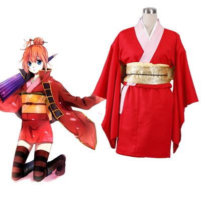 Gin Tama Kagura 6TH Kimono Cosplay Costumes Deluxe Edition