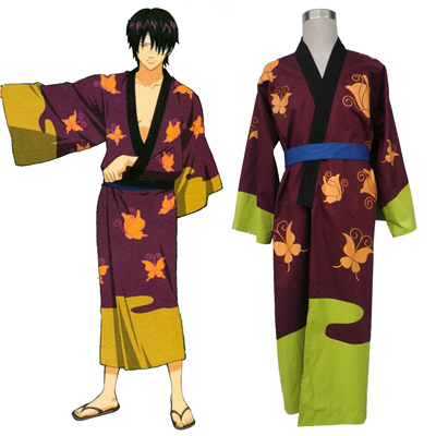 Gin Tama Takasugi Shinsuke 1 Kimono Cosplay Kostumi
