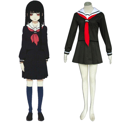 Hell Girl Enma Ai 2 Sailor Cosplay Kostymer