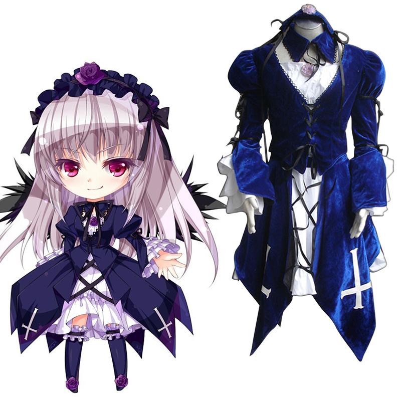 Rozen Maiden Suigintou 1ST Cosplay Costumes