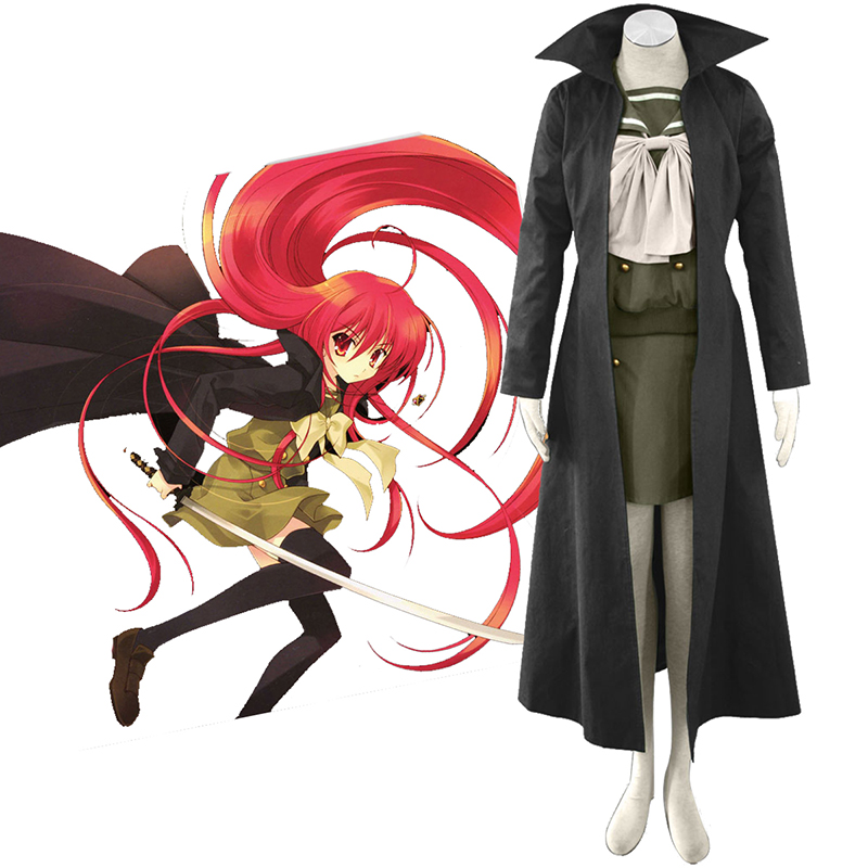 Shakugan no Shana Shana 3 Cloak Traje Cosplay