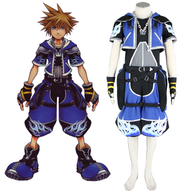 Kingdom Hearts Sora 2 Blue Cosplay Kostumi