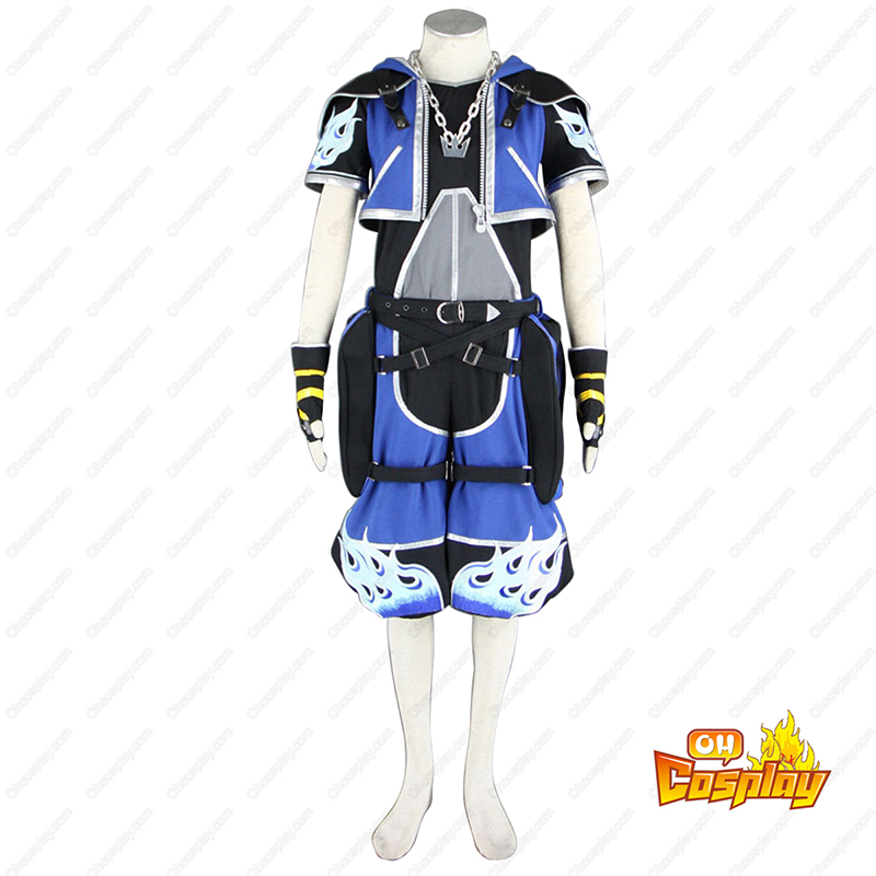 Kingdom Hearts Sora 2 Modrý Cosplay Kostýmy