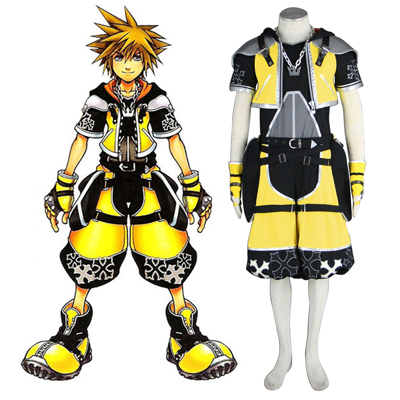 Kingdom Hearts Sora 3RD Yellow Cosplay Costumes