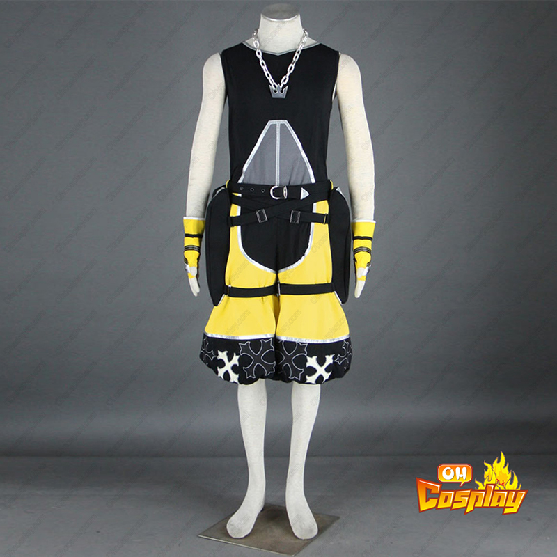 Kingdom Hearts Sora 3 Amarelo Traje Cosplay