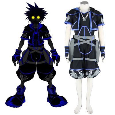 Kingdom Hearts Sora 4 Preto Traje Cosplay