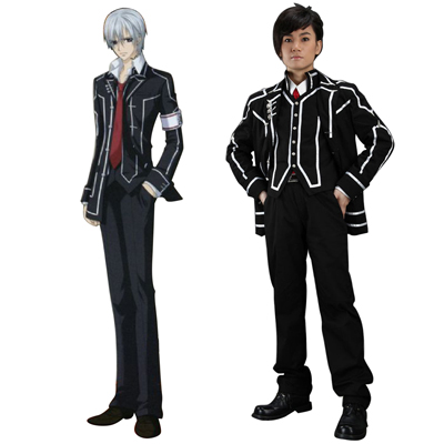 Vampire Knight Day Class Svart Male School Uniform Cosplay Kostym